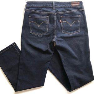 Levi's Slight Curve Mid Rise Slim Dark Denim Jeans